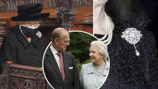 The Queen pays touching tribute to Prince Philip with special brooch for funeral