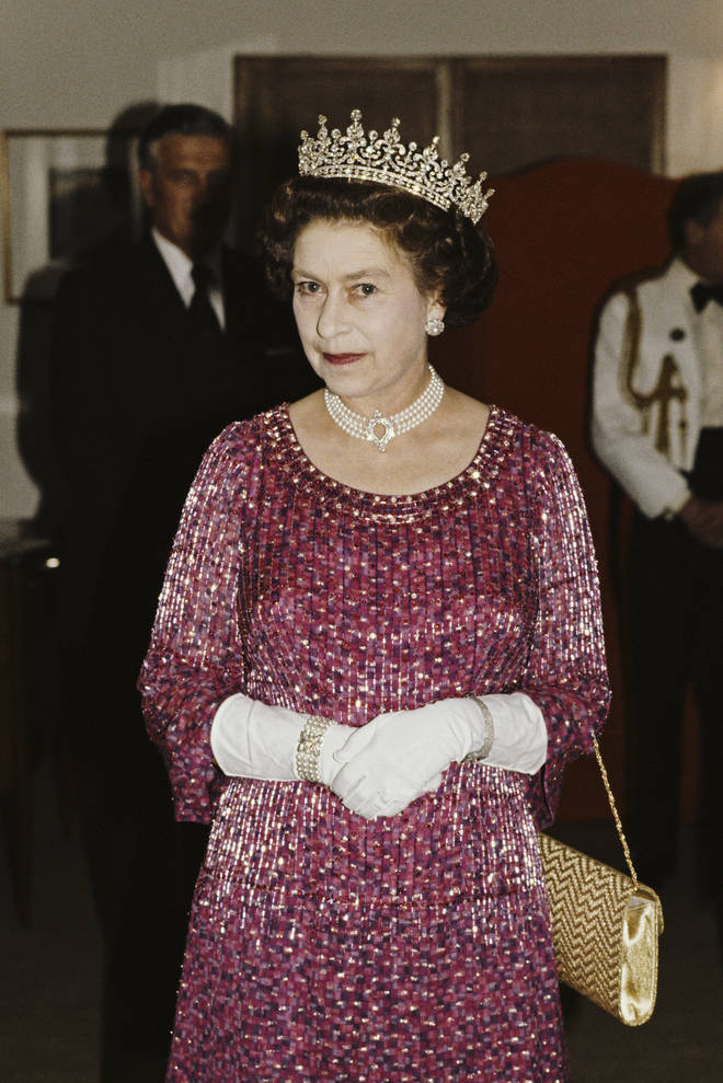The Queen wore the pearl necklace in 1983