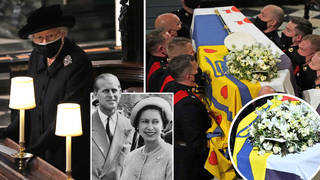 The Queen left a handwritten note on Prince Philip's coffin 'signed with a sweet pet name'