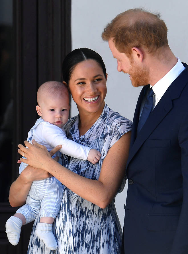 Meghan and Harry with baby Archie during their Royal Tour of South Africa in September 2019