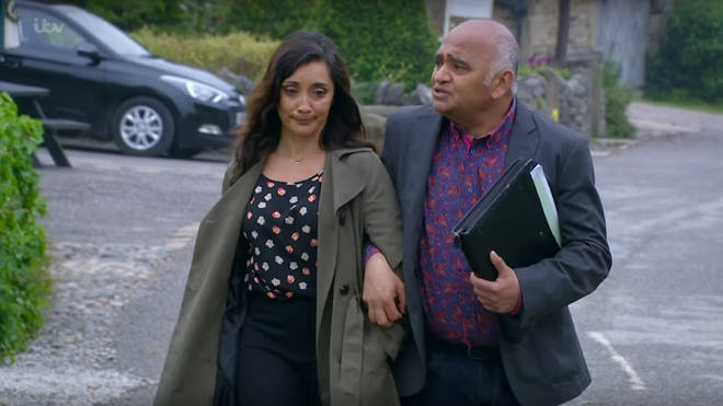 Rishi Sharma has a fractured relationship with his family in Emmerdale