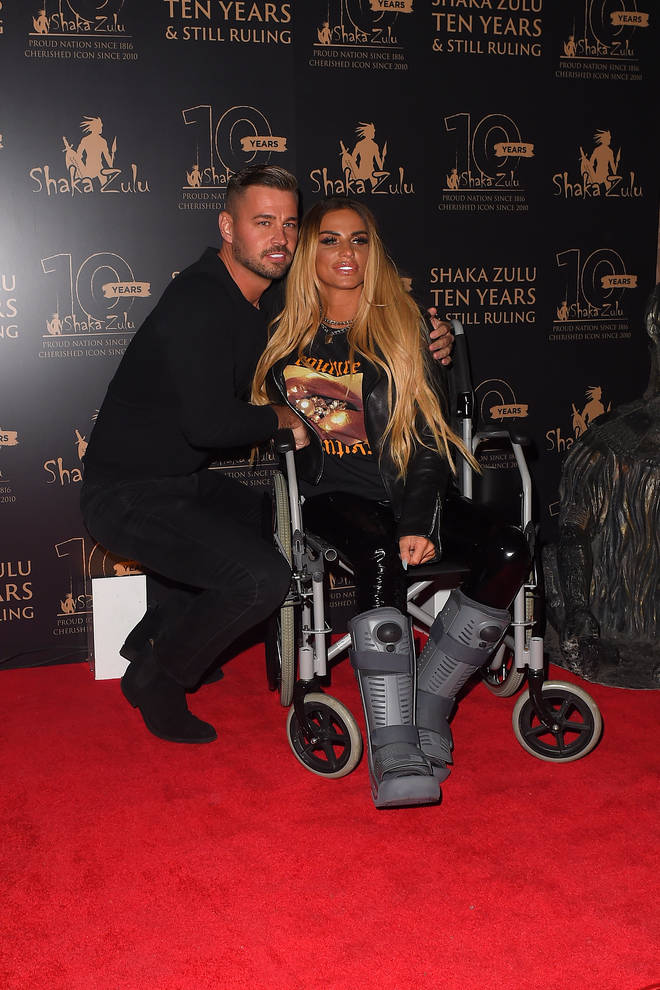 Katie Price and her boyfriend Carl Woods have been together for ten months