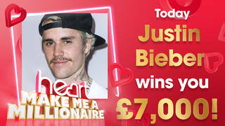 Justin Bieber could win you £7,000 today