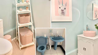 Emily gave her bathroom a makeover on a budget