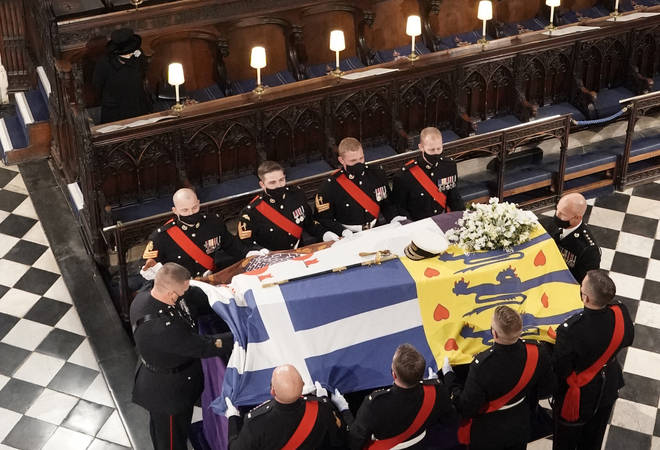 Prince Philip was laid to rest at St George's Chapel on Saturday