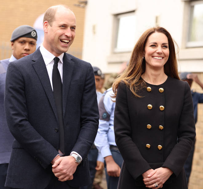 The Duke and Duchess of Cambridge dressed in black as their mourning period continues