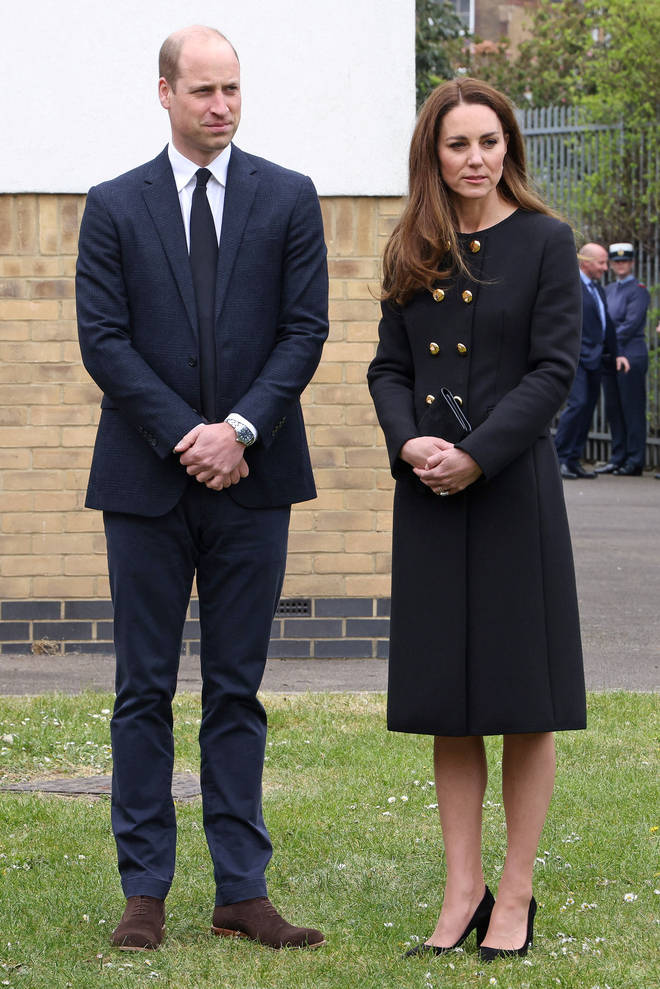 Kate and William met with cadets at the East London-based squadron