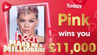 Pink could win you £11,000 today