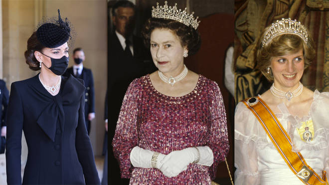 Kate Middleton's tribute to the Queen and Princess Diana at Prince Philip's funeral