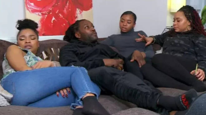 Marcus and Mica are sometimes joined by their daughters on Gogglebox
