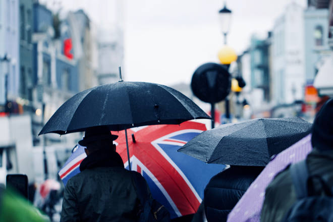 The UK is set for downpours later this week