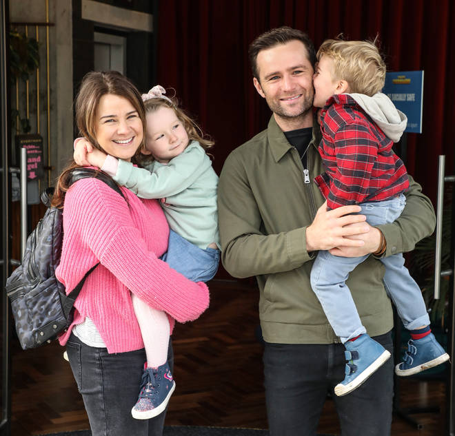 Harry and Izzy Judd with their two children