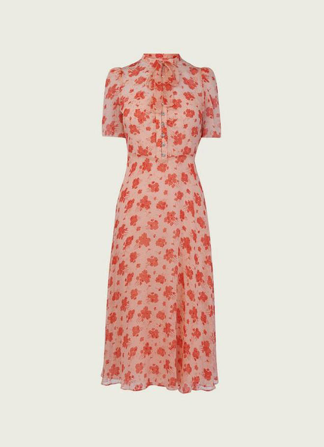 Holly Willoughby's rose print dress is from LK Bennett