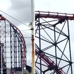 A rollercoaster broke down in Blackpool