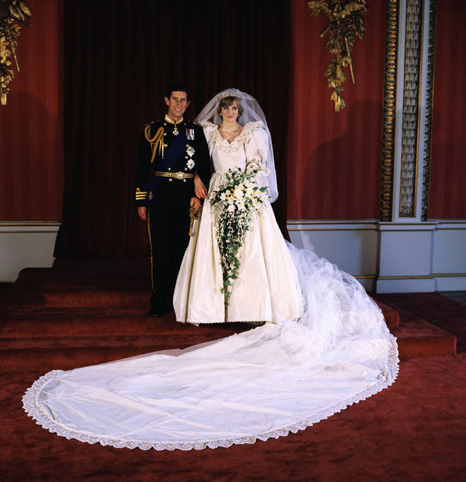 Princess Diana's wedding gown was designed by David and Elizabeth Emanuel