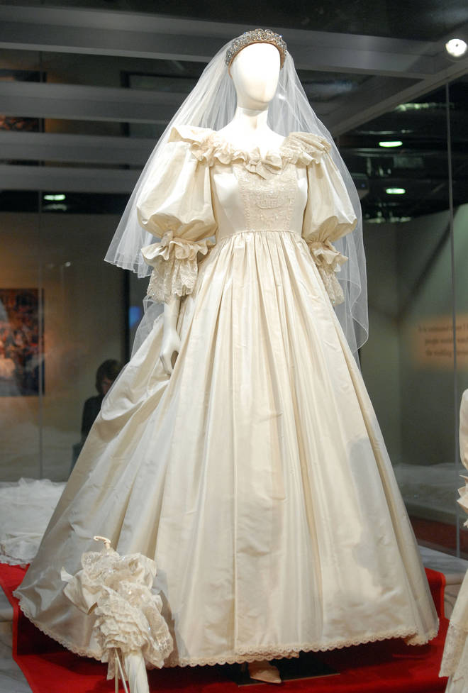 The wedding dress has not been on display since 1995