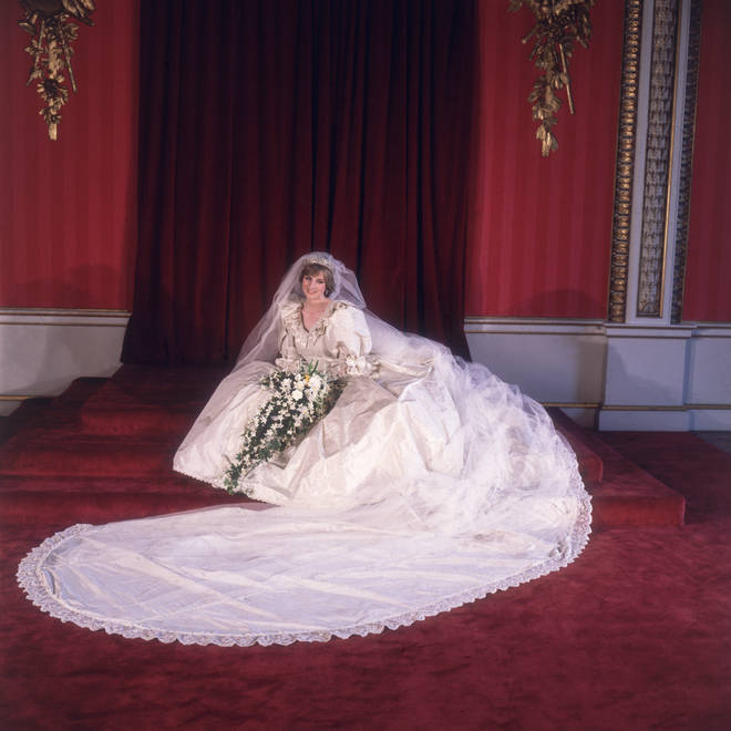 Princess Diana wore the wedding gown to marry Prince Charles in 1981