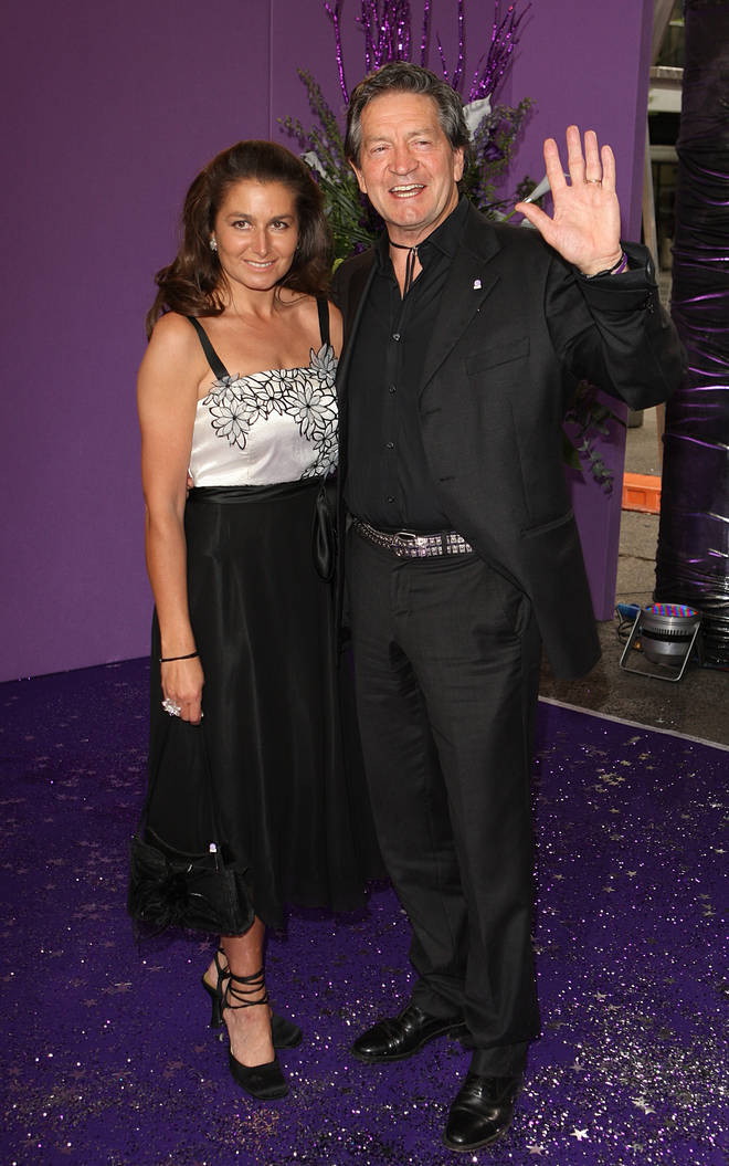 Patrick Mower and his wife Anya
