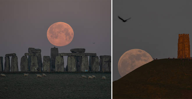 The Pink Supermoon lit up the sky last night