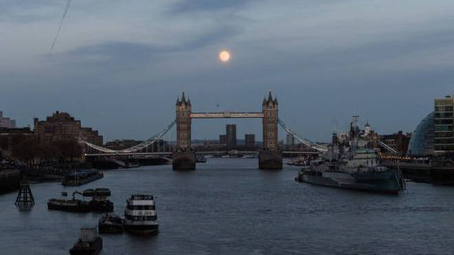 The Supermoon was also visible in London