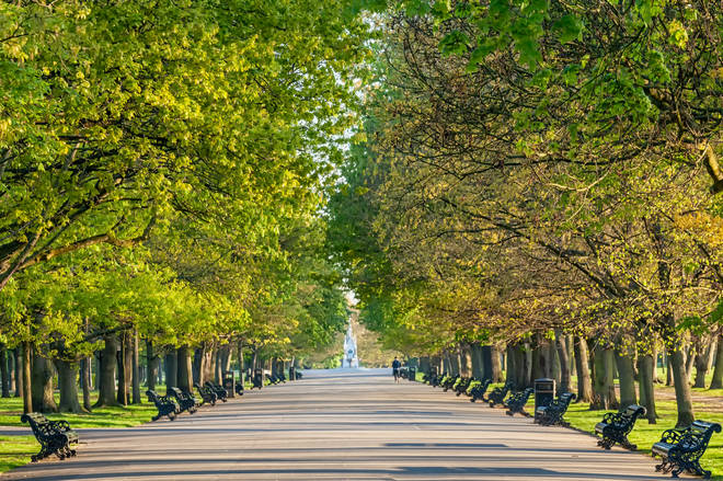 Regent's Park is in sixth place