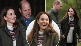 Kate Middleton and Prince William looked in good spirits as they carried out royal duties