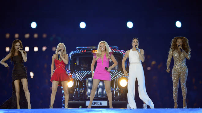 Spice Girls perform at the 2012 London Olympics