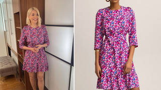 Holly Willoughby is wearing a summer dress on This Morning today