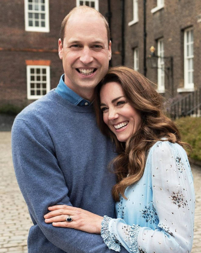 Prince William and Kate Middleton are all smiles in the new pictures