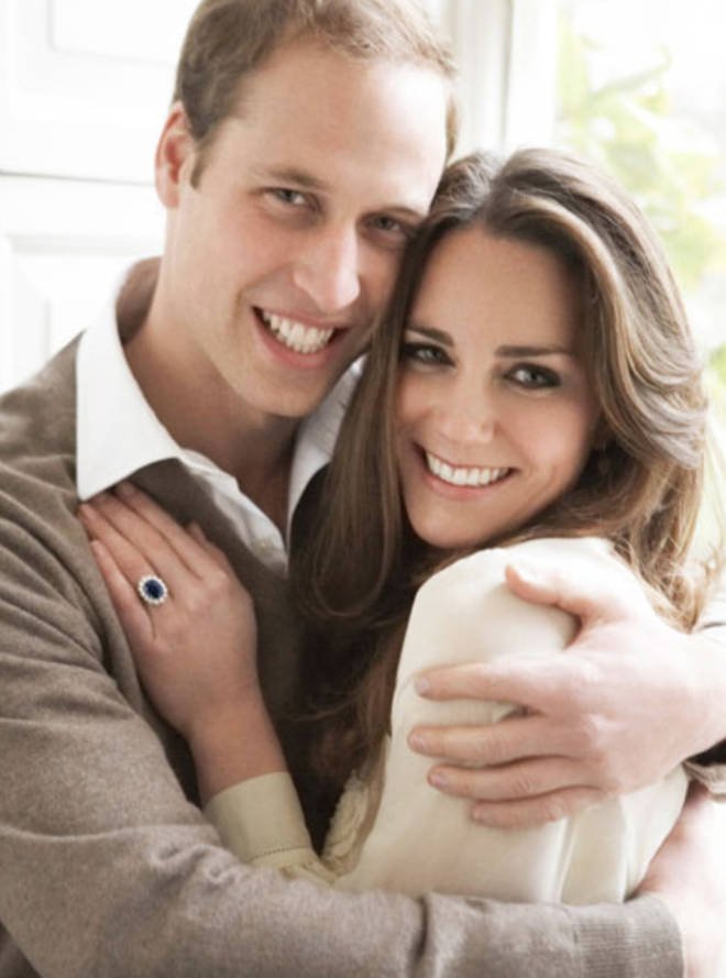The pictures looked to be inspired by their original engagement portraits