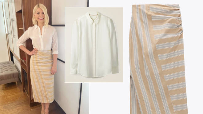 Holly Willoughby is wearing a dress from the highstreet