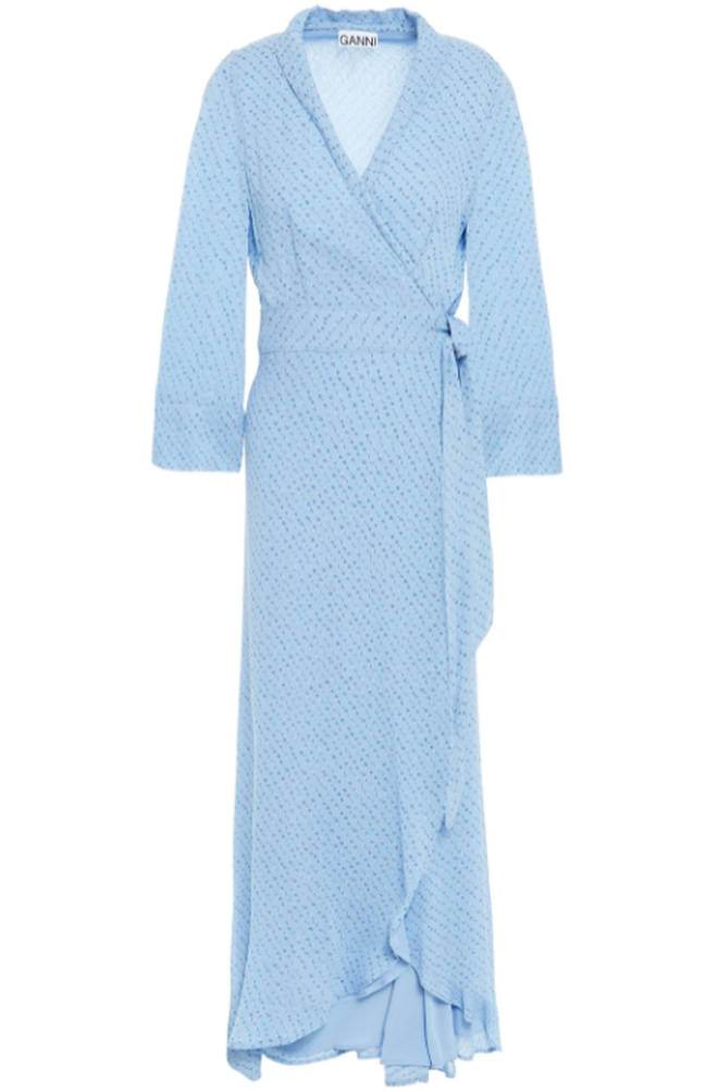 Ganni wrap around dress from The Outnet