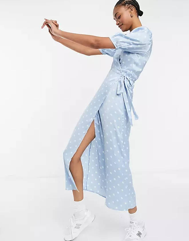 Midi Wrap Dress, £45, ASOS