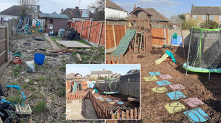 Craig and Lisa transformed their back garden