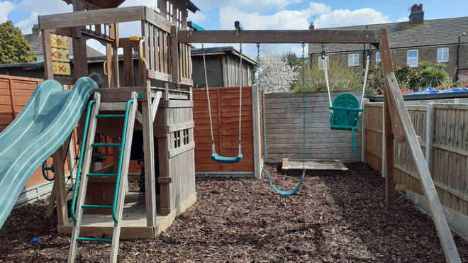Craig and Lisa transformed their back garden into an adventure playground