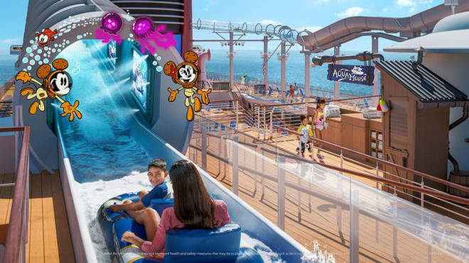 The Aquamouse is an incredible new attraction on The Disney Wish