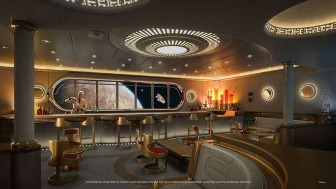 There is a Star Wars cocktail lounge on board the Disney Cruise