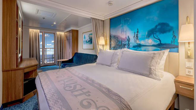 The bedrooms are incredible in The Disney Wish
