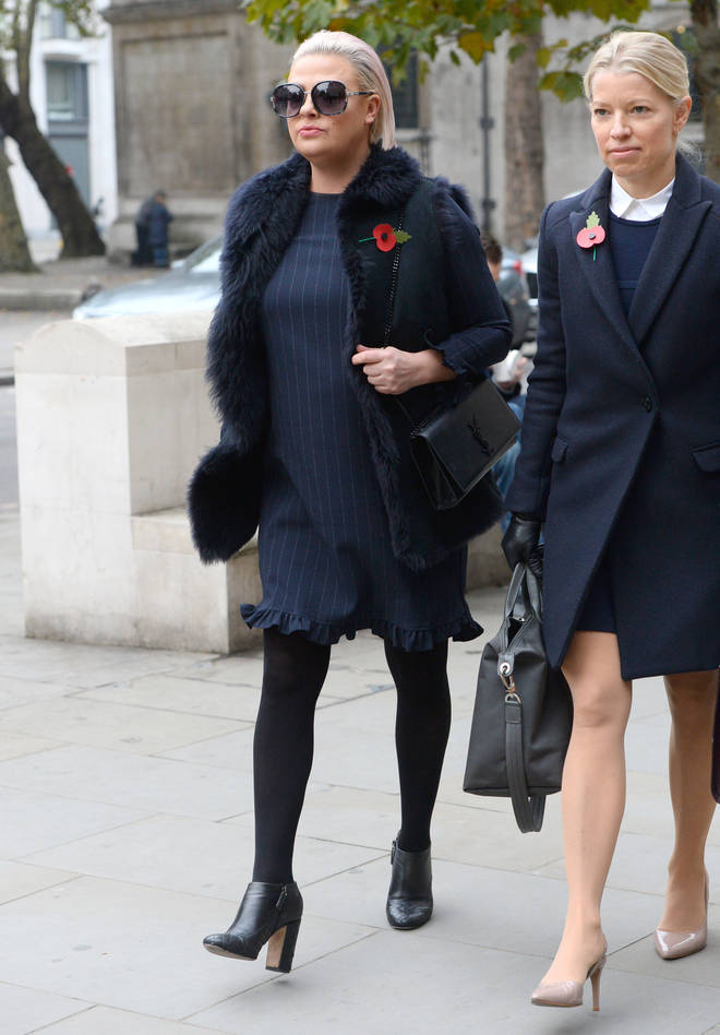 Lisa Armstrong attends the High Court in London