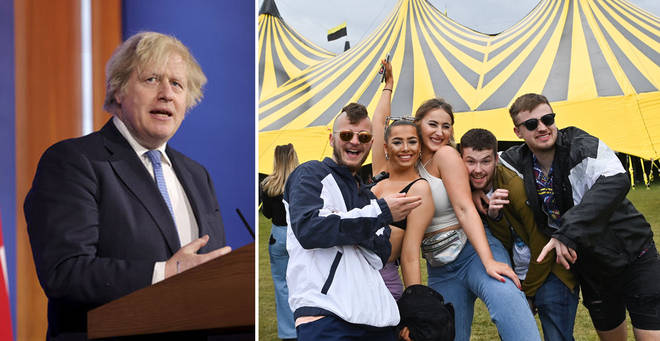 Boris Johnson has spoken about plans to lift social distancing rules