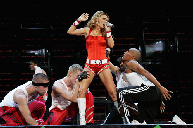 Geri thrilled fans with her take on It's Raining Men