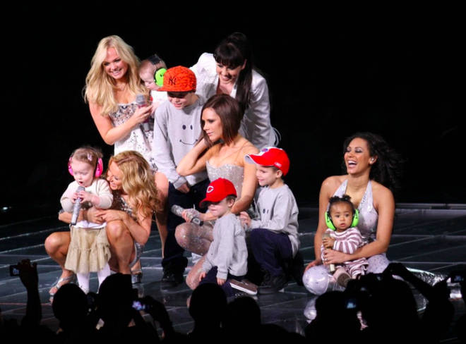 The Spice Girls got their children on stage for 'Mama'