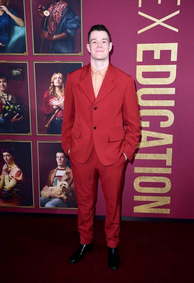 Connor Ryan Swindells played Adam Groff in Sex Education