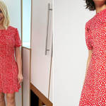Holly Willoughby is wearing a dress from Warehouse