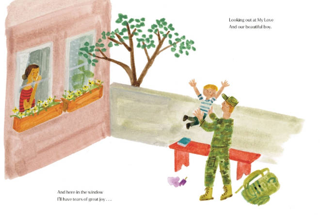 One of the pages appears to depict Prince Harry and Archie