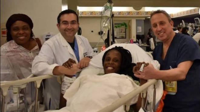 Halima gave birth to nine babies on Tuesday