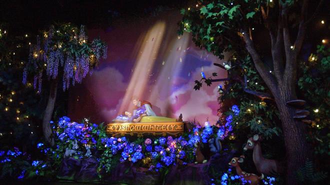 The revamped Snow White ride at Disneyland California uses animatronics to recreate the scene