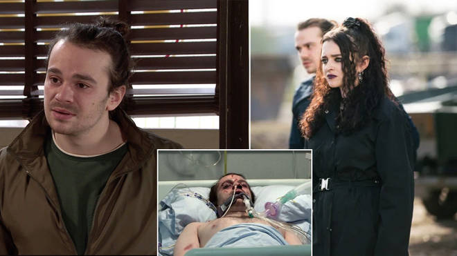 Seb Franklin and Nina Lucas were attacked in Coronation Street