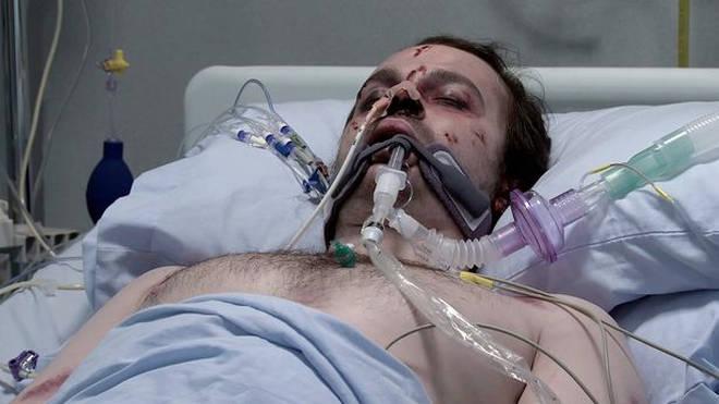 Seb has been left hospitalised in Corrie