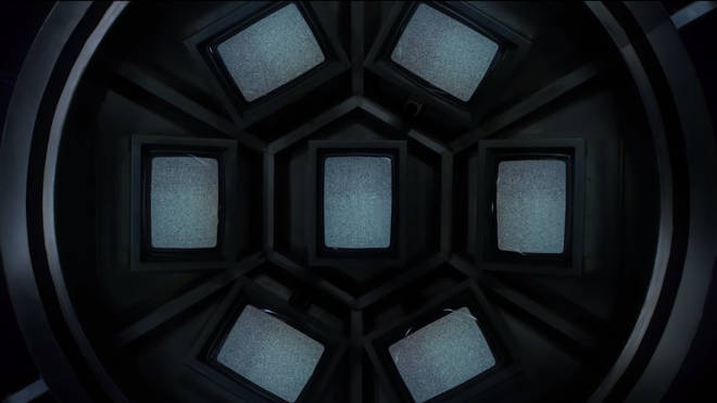 The teaser features seven static TV screens
